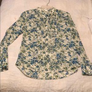 JCrew Cotton Henley blouse.